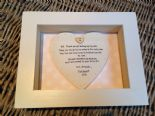Shabby Personalised Chic Box Frame Gift For Father Of The Bride. Dad Wedding